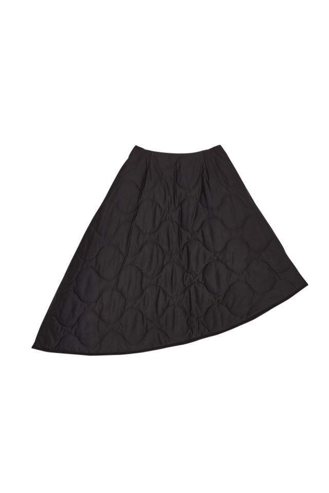 (SALE 60%) MILITARY PADDING SKIRT(BLACK)
