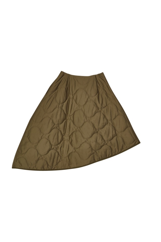 (SALE 70%) MILITARY PADDING SKIRT(KHAKI)