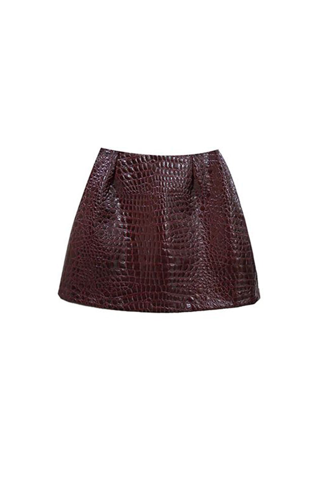 (60% SALE) PYTHON SKIN MINI SKIRT