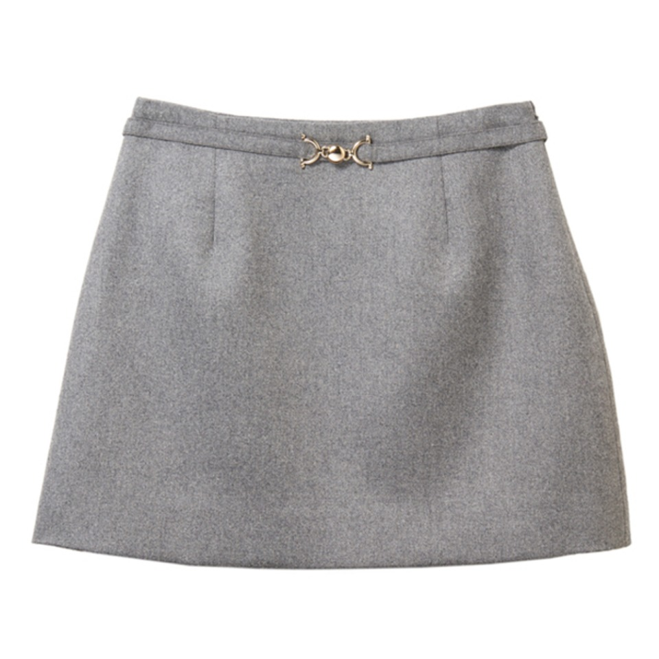 MONDAY SKIRT - SIMPLE MOMENT (GRAY)